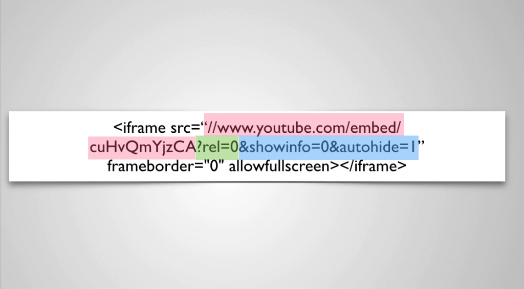 Customized-YouTube-Embed-Code