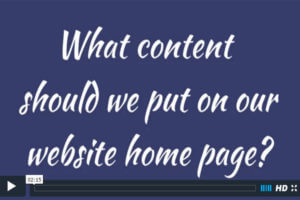 What content should we put on our website home page?