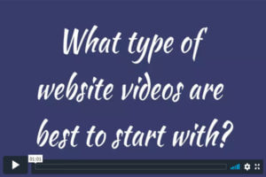 What type of website videos are best to start with?