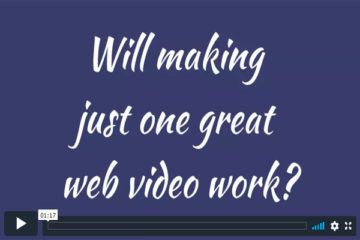 Will making just one great web video work?